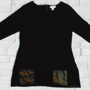 Dress Barn Women's L Black 3Quarter Sleeve Tunic